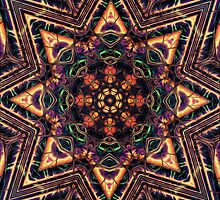 """On the Edge of Reason"" (Earth Tones) - Geometric Abstract Mandala  by Leah McNeir"
