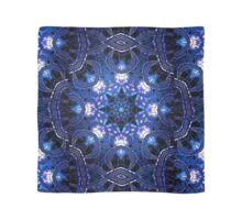 """On the Edge of Bliss"" (Blue Tones) - Geometric Abstract Mandala  Scarf"