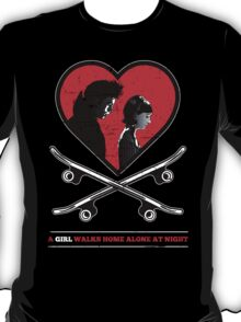 A Girl Walks Home Alone At Night. T-Shirt