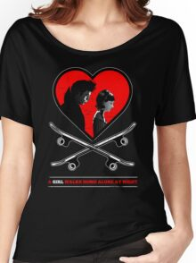 A Girl Walks Home Alone At Night. Women's Relaxed Fit T-Shirt