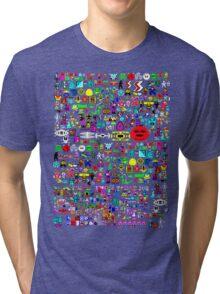 Heroes of the BBC micro (wraparound print) Tri-blend T-Shirt