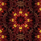 """""""On the Edge of Mania"""" (Red Tones) - Geometric Abstract Mandala  . by Leah McNeir"""
