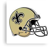 new orleans saints helmet logo Canvas Print