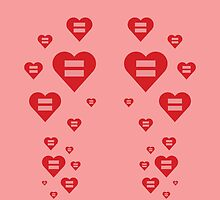 Equal Love Hearts by DomaDART
