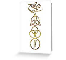 EXTREME DISTRESSED TRIQUETRA - dirty black summer V Greeting Card