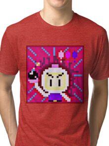 Pixel Bomberman Tri-blend T-Shirt