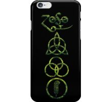 EXTREME DISTRESSED TRIQUETRA - lizard king V iPhone Case/Skin
