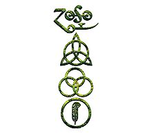EXTREME DISTRESSED TRIQUETRA - lizard king V Photographic Print