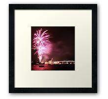 NYE, Tasman Bridge Framed Print