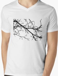 Winter Branches Mens V-Neck T-Shirt