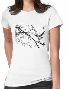 Winter Branches Womens Fitted T-Shirt