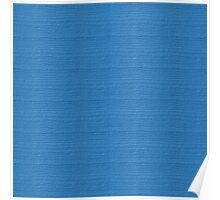 Azure Blue Wood Grain Texture Color Accent Poster
