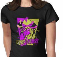 Punk Mascot Stencil Womens Fitted T-Shirt