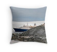 Huh, another ship load of tourists!! Throw Pillow