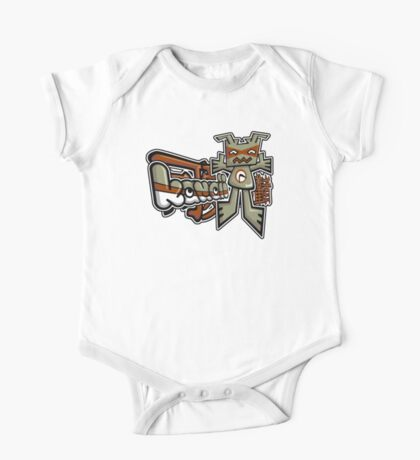 Robot Mascot Tag One Piece - Short Sleeve