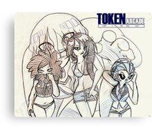 Token Arcade Summer Canvas Print
