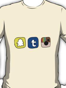tumblr instagram snapchat apps T-Shirt