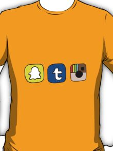 tumblr instagram snapchat apps T-Shirt