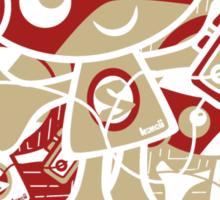 Stereo Mascot Stencil Sticker