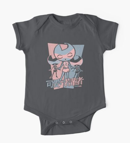 Sweet Mascot Stencil One Piece - Short Sleeve