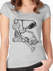 far future vector illustration version Women's Fitted Scoop T-Shirt