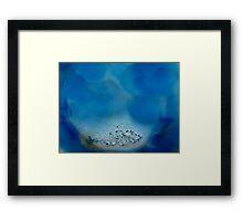 The Hidden Land - Blue Atoll Framed Print