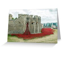 Poppies at The Tower Greeting Card