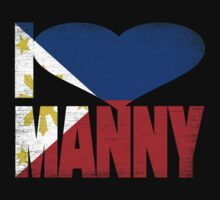 Vintage Grunge I Love Manny Pacquiao Kids Clothes