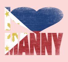 Vintage Grunge I Love Manny Pacquiao Kids Tee