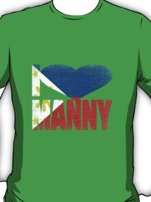 Vintage Grunge I Love Manny Pacquiao T-Shirt