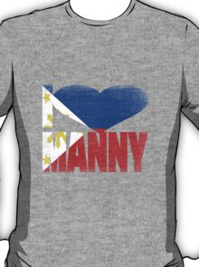 Vintage Grunge I Love Manny Pacquiao T-Shirt