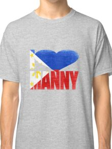 Vintage Grunge I Love Manny Pacquiao Classic T-Shirt