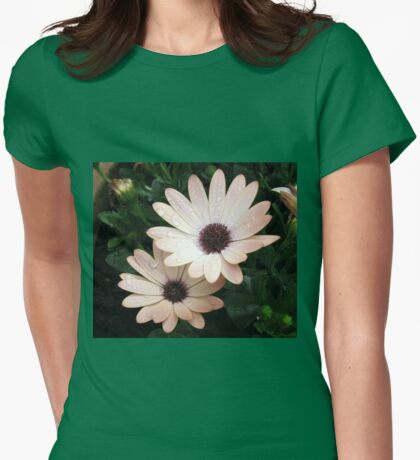 Raindrops on Cape Daisies Womens Fitted T-Shirt