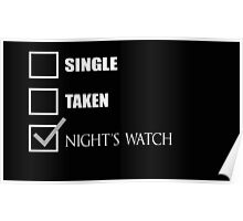 Single Taken Nights Watch Poster