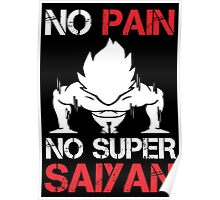 No Pain No Super Saiyan - Tshirts & Hoodies Poster