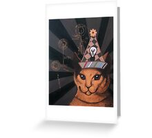 The De Bono Cat Greeting Card