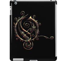 LATTICE LETTER O - burning coals iPad Case/Skin