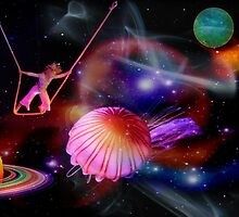 Pink Jellyfish in Space by Jane Neill-Hancock