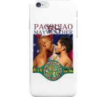 Pacquiao vs Mayweather iPhone Case/Skin