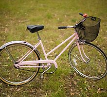 Pink Pedal Challenge 2015 - Support Jo and Ginny - bike in grass by pinkpedal