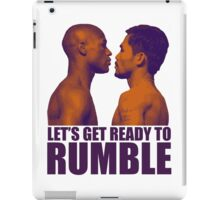 Let's get ready to rumble! Pacquiao vs Mayweather iPad Case/Skin