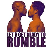 Let's get ready to rumble! Pacquiao vs Mayweather by ches98