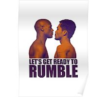 Let's get ready to rumble! Pacquiao vs Mayweather Poster