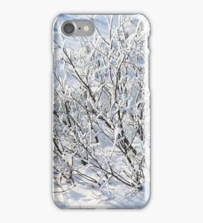 Hoarfrost on Arctic Willow iPhone Case/Skin