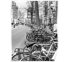 Amsterdam Bikes Poster