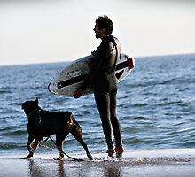 A dog is a mans best friend by Melissa  Carroll