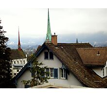 Rooftops in Zurich Photographic Print