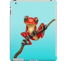 Cute Red Tree Frog on a Branch iPad Case/Skin
