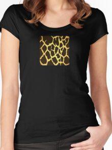 Giraffe Skin Pattern Women's Fitted Scoop T-Shirt