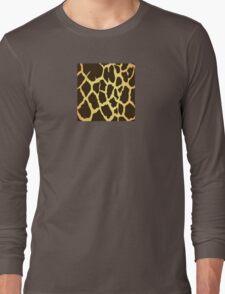 Giraffe Skin Pattern Long Sleeve T-Shirt
